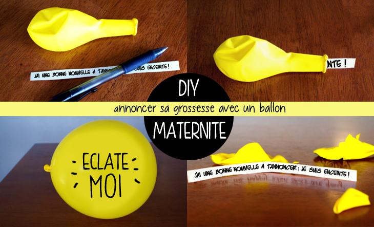 Annonce grossesse avec ballon à éclater