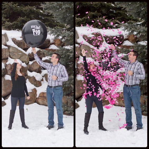 Annoncer le sexe du futur bébé avec confettis
